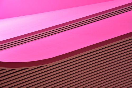 abstrakte minimalistische foto rosa details architektur gebaude