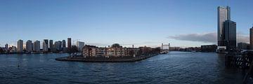 Blick über Noordereiland Rotterdam von Laurens van Eijndthoven