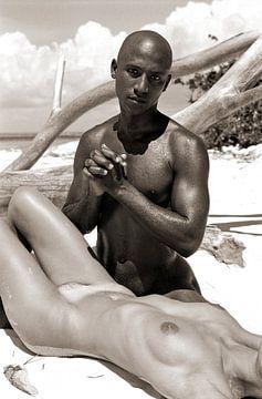 Black Man 7 - Analoge Fotografie! von Tom River Art