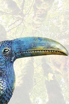 Tukan exotischer Vogel Kunst mit Bäumen von Bobsphotography