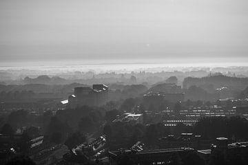 Hoograven, Utrecht in schwarz und weiß von Bart van Lier