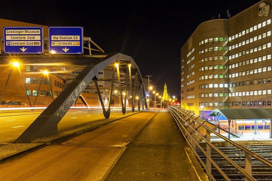 Het Emmaviaduct in de stad Groningen / 2015