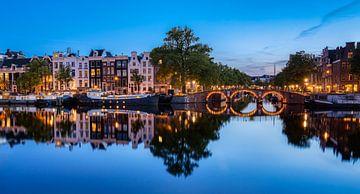 Avond aan de Amstel, Amsterdam (1) van Adelheid Smitt
