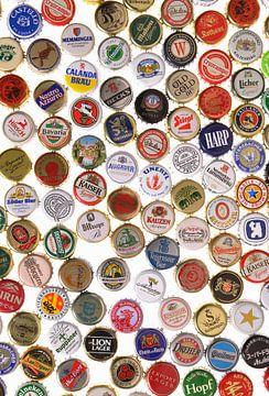 Kroonkurken van verschillende biersoorten van