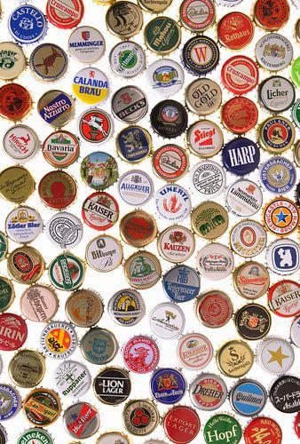 Kroonkurken van verschillende biersoorten