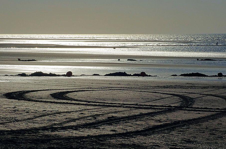 Zonsondergang Strand Houlgate Normandië II