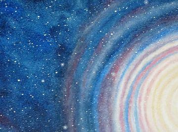 Kleurige kosmos detail  van Ingrid van El