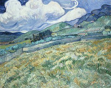 Weizenfeld mit Bergen im Hintergrund, Vincent van Gogh