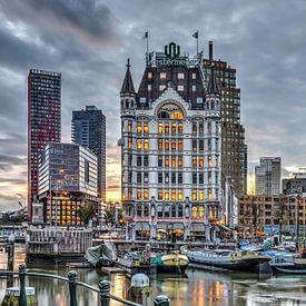 Le Vieux-Port de Rotterdam Pendant le Soir sur Frans Blok