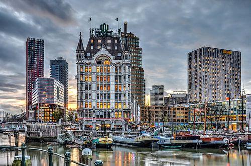 Oude Haven Rotterdam bij avond van
