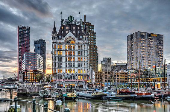 Oude Haven Rotterdam bij avond van Frans Blok