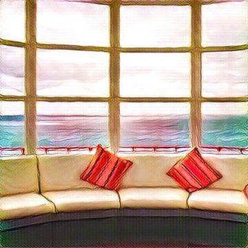 Window at seaside von L.J. Lammers