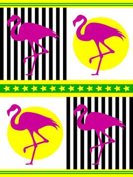 DOES Pop Art Flamingos van Jan Willem van Doesburg