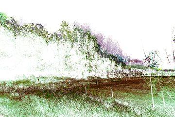 Gestoord Landschap #012 van Peter Baak