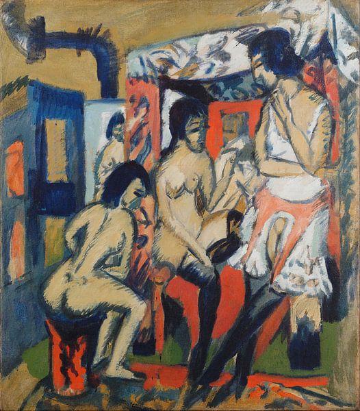 Nudes in Studio, Ernst Ludwig Kirchner von Meesterlijcke Meesters