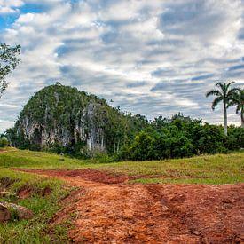 Mogote in Valle de Viñales, Cuba van Koen Henderickx