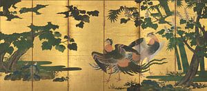 Tosa Mitsuyoshi - Peafowl und Phönixe