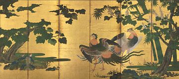 Tosa Mitsuyoshi - Peafowl and Phoenixes