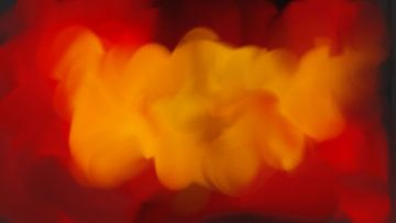 Rot gelb schwarz abstrakt von Maurice Dawson