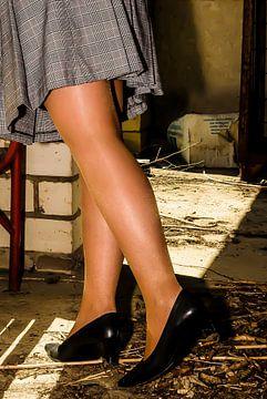 Schöne Beine in glänzenden Nylons (3) von Norbert Sülzner