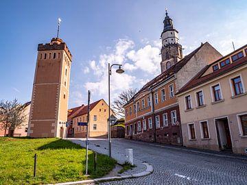 Roter Turm mit Hauptkirche St. Marien in Kamenz Sachsen von Animaflora PicsStock