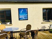 Klantfoto: Strand bij Castricum, acryl schilderij van Marlies Huijzer van Martin Stevens
