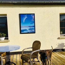 Photo de nos clients: Strand bij Castricum, acryl schilderij van Marlies Huijzer sur Martin Stevens