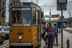 Tram in Budapest van