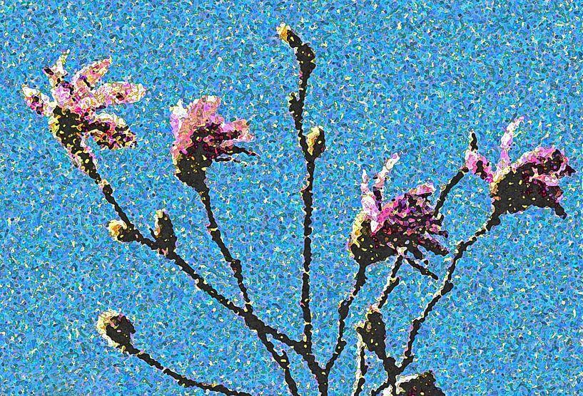 Magnolia In Van Gogh Stijl Van Gerda H Op Canvas Behang En Meer