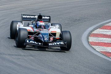 Minardi Formule 1 raceauto bestuurd door voormalig F1-coureur Jos Verstappen van Sjoerd van der Wal