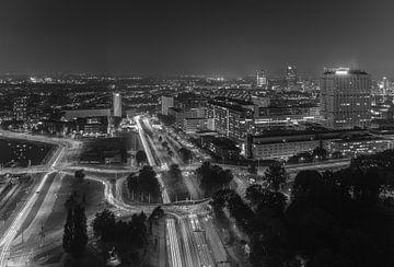 Le paysage urbain du Euromast sur MS Fotografie | Marc van der Stelt