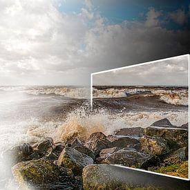 Storm bij Urk van Robin Pics