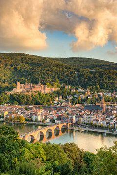 Heidelberg in de avondzon van Michael Valjak