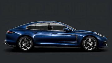 Porsche Panamera, blau von Gert Hilbink