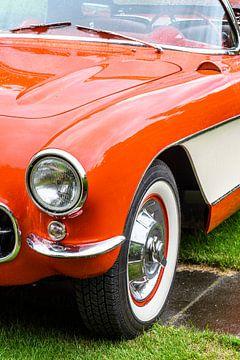Sportautodetail Chevrolet- CorvetteC1 klassisches von Sjoerd van der Wal