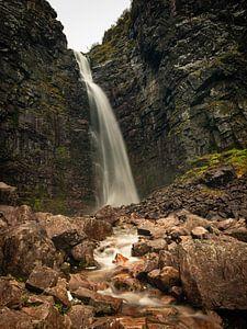 Njupeskär waterval in Fulufjället Nationaal Park