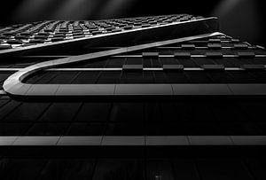 Zigzag - Modern kantoor (zwart-wit) van Ramón Tolkamp