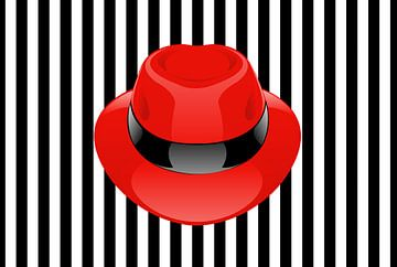 Rode hoed  van Karl-Heinz Lüpke