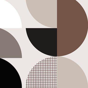 Cirkels - Chocolade 1 van Studio Malabar
