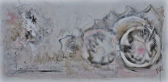 Abstract schilderij zachtheid