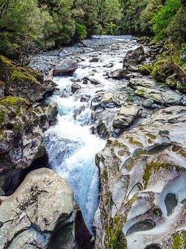 The Chasm in Te Anau Nieuw Zeeland van Greet Thijs