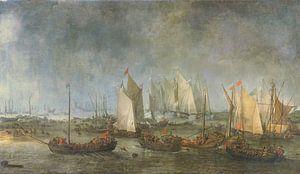 De Slag om de Slaak tussen de Nederlandse en Spaanse vloot, Simon de Vlieger