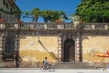 Fietser in Lucca van