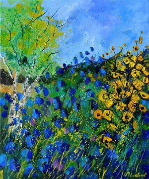 Blue flowers sur pol ledent