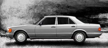 Mercedes-Benz S-Klasse W 126 side view in original color von aRi F. Huber