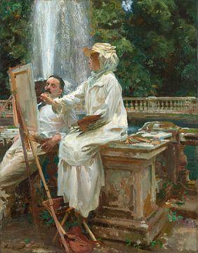 La fontaine, Villa Torlonia, Frascati, Italie, John Singer Sargent - 1907 sur