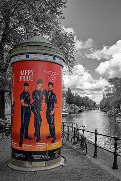 Peperbus sur le Prinsengracht à Amsterdam sur Foto Amsterdam / Peter Bartelings