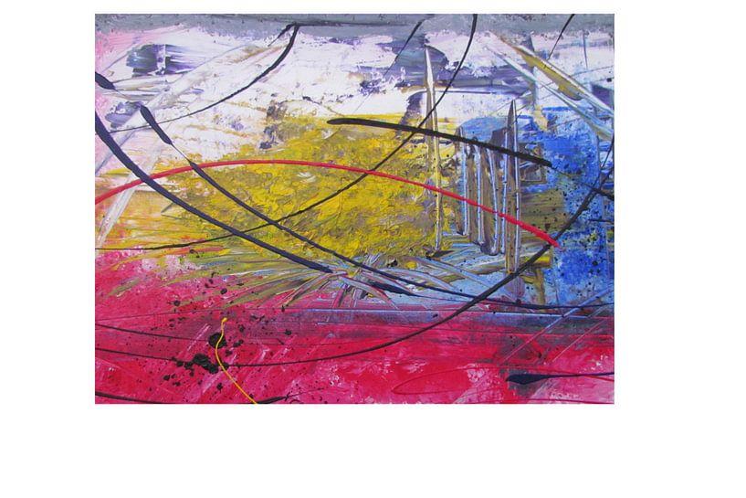 Abstrakte Kunst - Bunte Explosion von Patricia Piotrak
