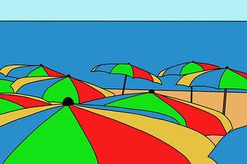 Kleurige Parasols van MishMash van Heukelom