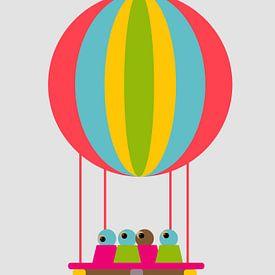 Luchtballon met vogel van Joost Hogervorst